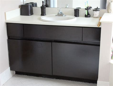 can u paint laminate kitchen cabinets diy inexpensive bathroom cabinet makeover