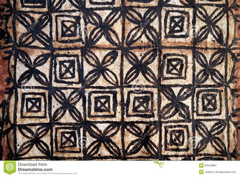 pacific islands tapa cloth squares design stock image