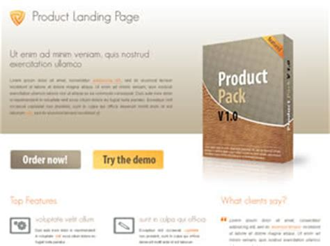 product landing page templates product landing page free website template free css