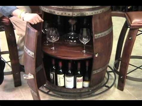 Vintage Oak Wine Barrel Bistro Table   YouTube