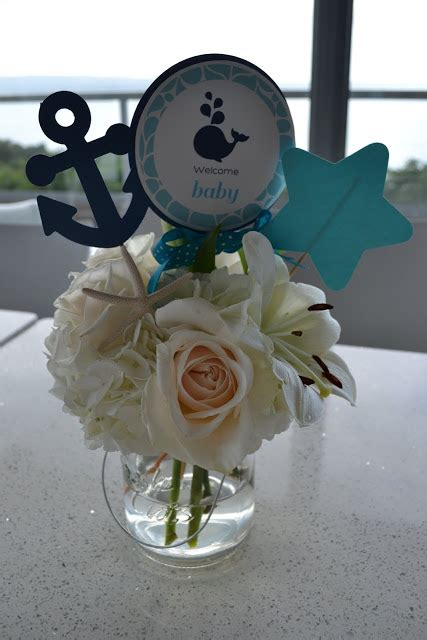 Whale Baby Shower Centerpieces by Nautical Whale Baby Shower Baby Shower Ideas Themes