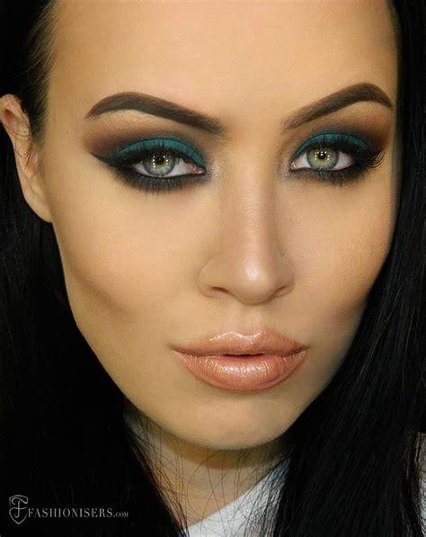mattes make up emerald green eye makeup tutorial with a matte effect