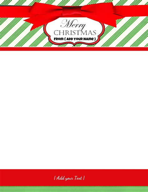 free christmas stationary this holiday paper is perfect free personalized christmas stationery