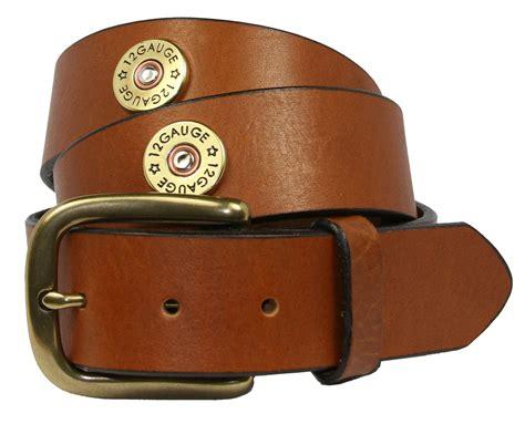 12 shotgun shell grain leather belt