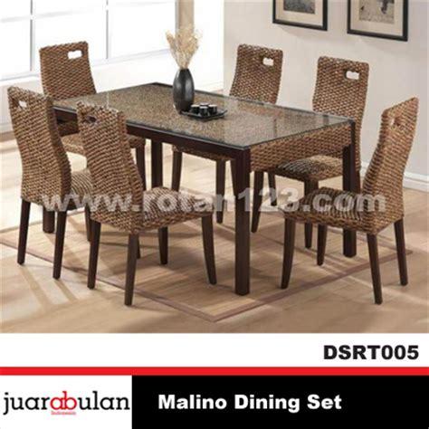 Meja Makan Rotan harga jual malino dining set meja makan rotan alami