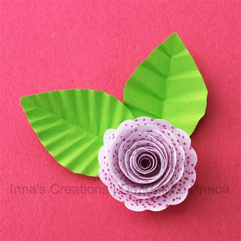 Make Paper Leaves - inna s creations how to make paper leaves with veins