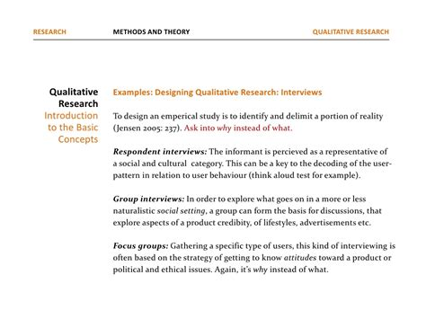 Qualitative Research Design Paper by Exle Of Qualitative Research Design Paper