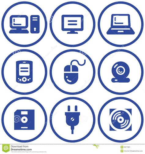 Free Architecture Design Software web icons set hardware vector stock image image 9677681