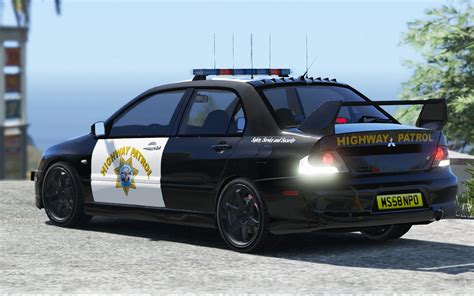 mitsubishi lancer evo 3 modification mitsubishi evo ix chp highway patrol paintjob gta5