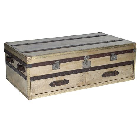 Vintage Trunk Coffee Table Metal Trunk Coffee Table On 47 Bukit