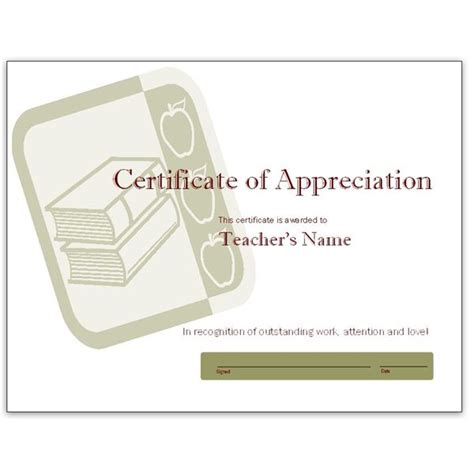 free teacher appreciation certificates download word and