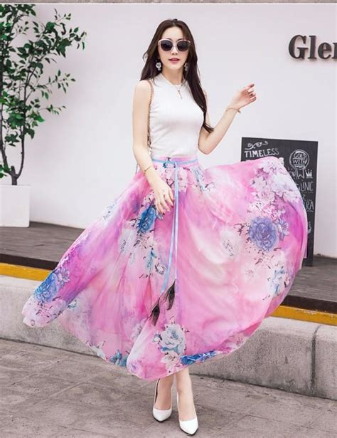 Syakira Dress Ori Best Seller best seller flower print silk chiffon skirts elastic patterns peacock 7 4m buttom bohemia