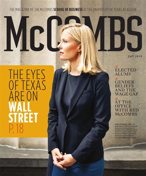 Mba Program Office Mccombs by Mccombs Magazine Fall 2015 By Mccombs School Of Business