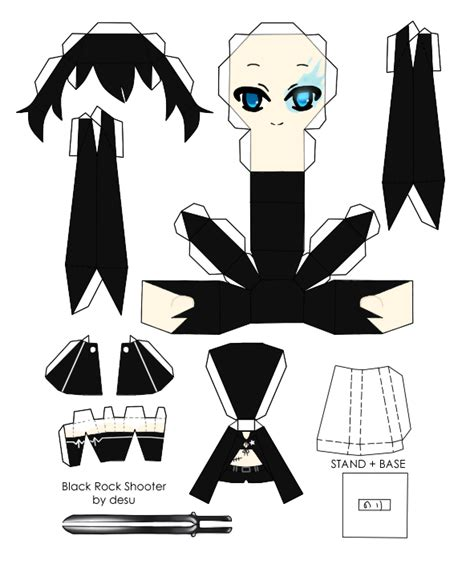 Black Rock Shooter Papercraft - black rock shooter beast paper crafts