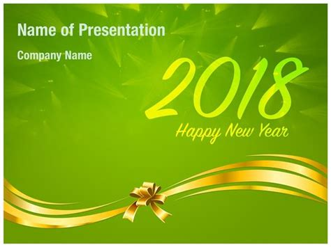 Greenpeace 2018 International New Years Cards Templates by 2018 New Year Wishes On Green Background Powerpoint