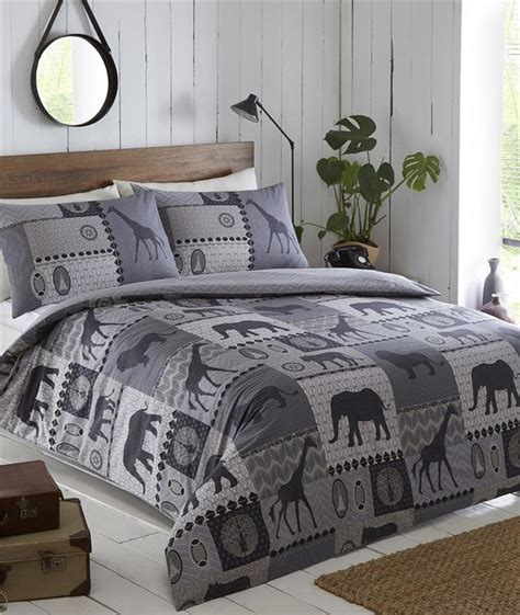 african bedding king size duvet set terracotta african safari animal