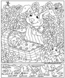 Hidden pictures coloring sheets pages printables plus art coloring