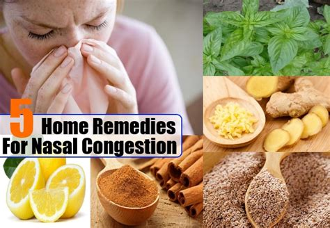 nasal congestion home remedies treatments and
