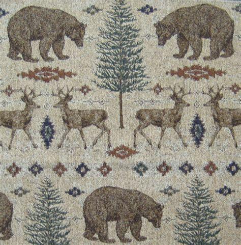 Ottawa Upholstery by Ottawa Sands Upholstery Fabric Deer Trees Otter