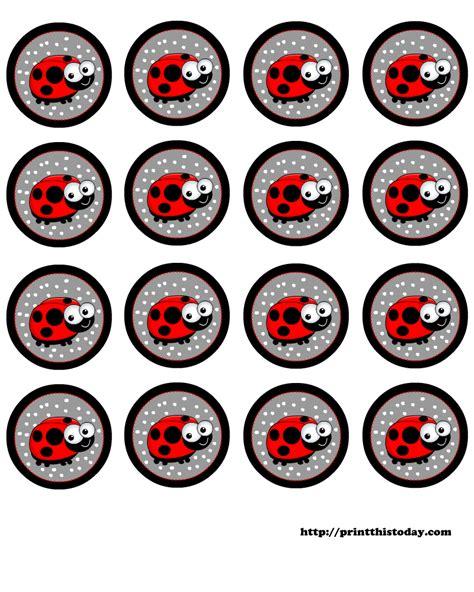 printable bug stickers free printable baby shower labels with ladybug