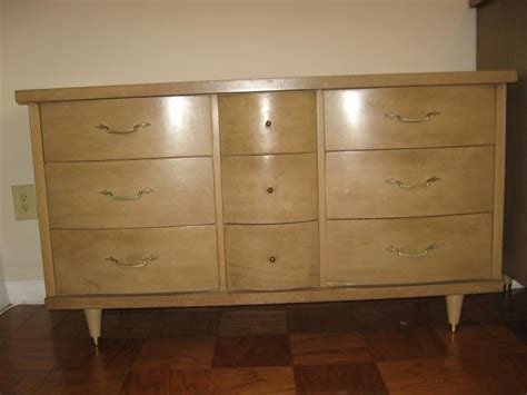 1950 Bedroom Furniture | buy 1950s blonde 3 piece furniture set at furniture trader
