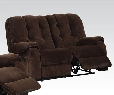 Fabric Reclining Loveseat by Nailah Chocolate Chion Fabric Reclining Loveseat By