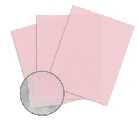 How To Make Paper Translucent - pastel pink paper 8 1 2 x 11 in 27 lb bond translucent