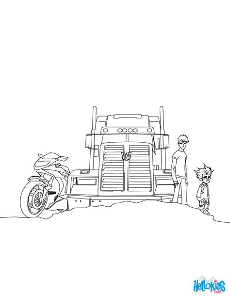 optimus prime coloring pages hellokids com