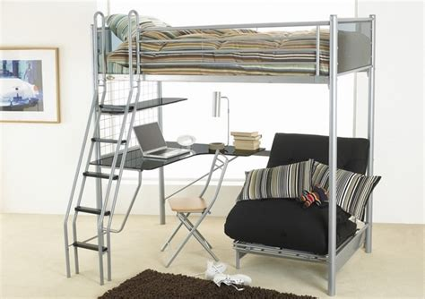 metal frame bunk bed with desk functional room furniture ideas metal bunk bed and