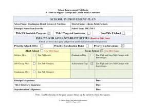 School Improvement Plan Template by Professional Development Plan Sle