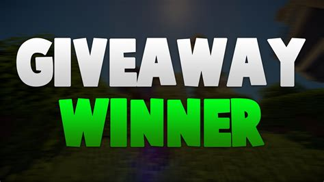 Giveaway Winner - giveaway winner youtube