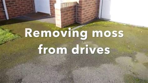 How To Clean Moss Patio by How To Remove Moss On Drives And Patios