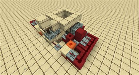 100 doors 2 floor 34 compact 2x2 piston floor door minecraft project