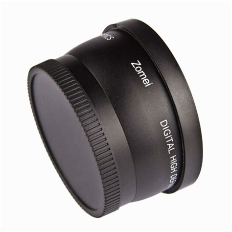 Dijual Lf412 Lensa Wide 52mm 0 45x Wide Angle Lens Uv Ck 78n zomei high definition auto focus 0 45x 52mm wide angle lens with macro lens black