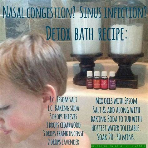 Detox Bath Oils by Detox Bath For Congestion And Sinus Infection For