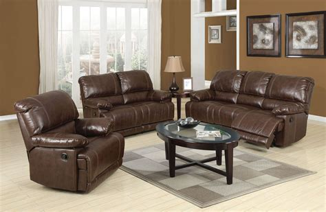 Leather Recliner Set by Bonded Leather Match Reclining Sofa Loveseat Chair 3pc Set
