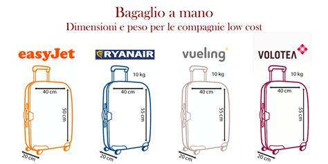 dimensioni bagaglio cabina quali sono le misure valigia aereo ryanair viaggiamo