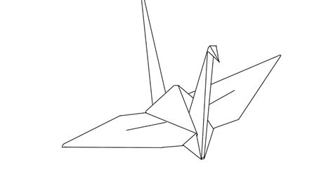 Origami Peace Crane Story - the kitchen table crafter free digi sketch origami peace