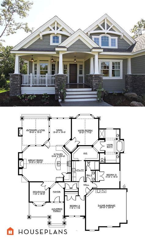bungalow style floor plans craftsman style house plan 3 beds 2 00 baths 2320 sq ft
