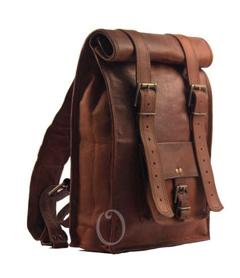 S Leather Backpack Brown s vintage brown leather backpack bag shoulder laptop