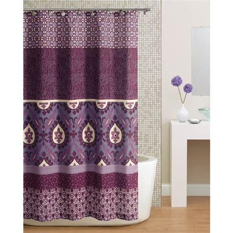 purple fabric shower curtains com beautiful purple paisley bohemian fabric