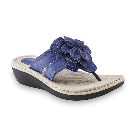 kmart womens sandals cobbie cuddlers s reginy blue comfort sandal