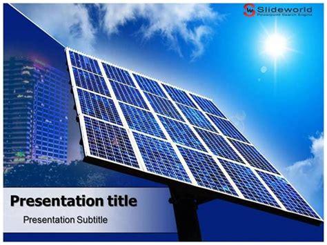 solar energy powerpoint template solar panels powerpoint template slideworld authorstream