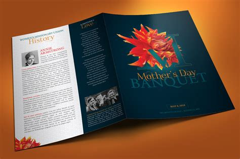 Mothers Day Banquet Brochure Template By Godserv Designs Thehungryjpeg Com Banquet Flyer Template