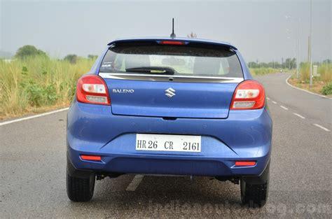 Suzuki Baleno Diesel Maruti Baleno Diesel Rear Review Indian Autos