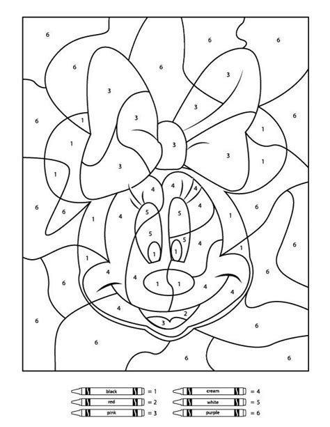 free printable color by number your children will these free disney color by number