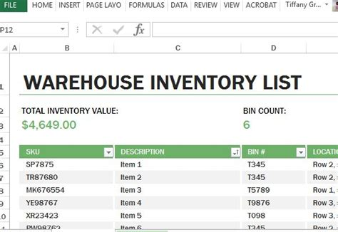 Warehouse Inventory Excel Template Free Excel Inventory Database Template