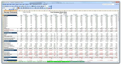 financial business plan template 10 year business plan financial budget projection model in