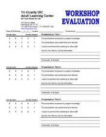 workshop feedback form template best photos of workshop and evaluation form
