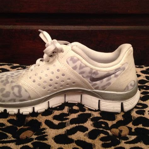57 nike shoes nike grey and white leopard print